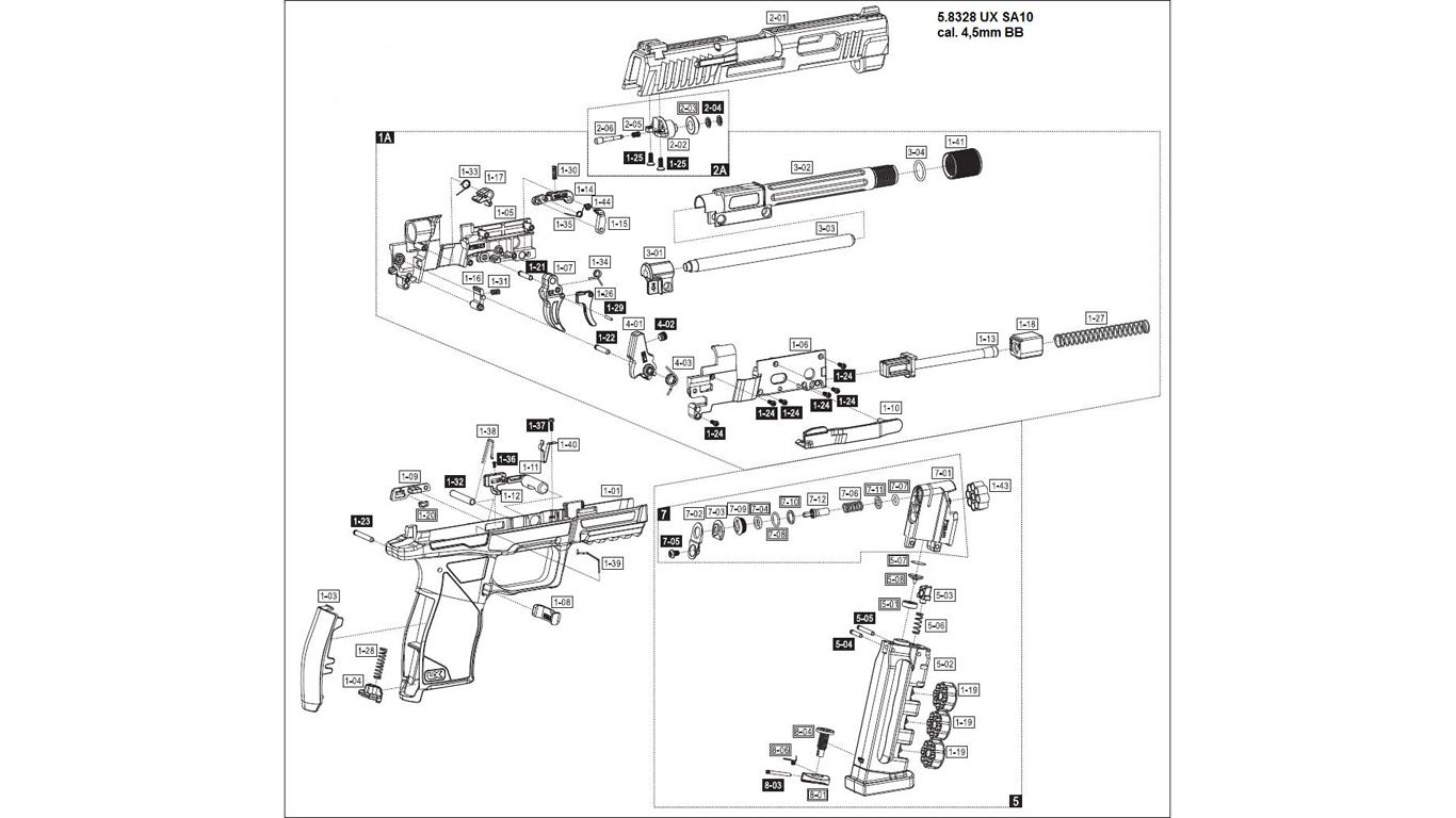 UX SA10 Spare Parts