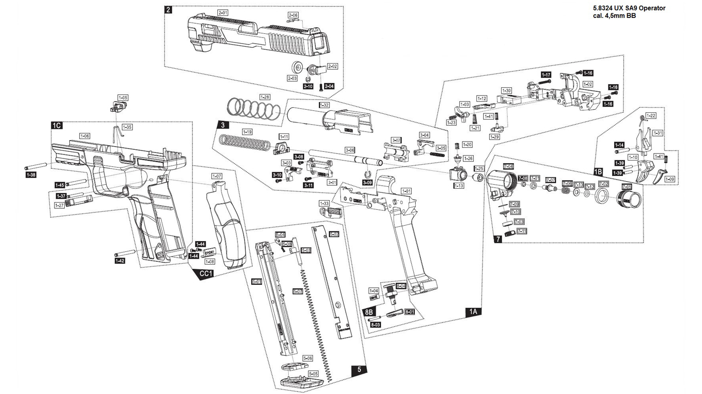 UX SA9 Operator Edition Spare Parts
